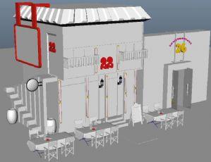 22号咖啡馆maya模型