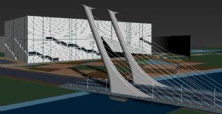 开发区大桥,办公楼公建