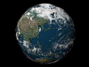 maya2009三维地球陆地海洋云层贴图
