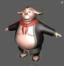 Q版猪八戒,带贴图绑定和面部控制