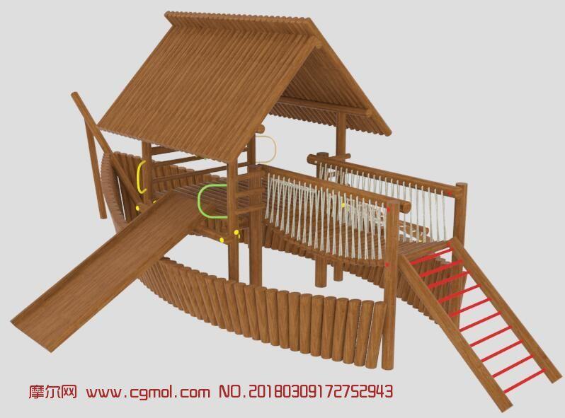 木船儿童娱乐设备