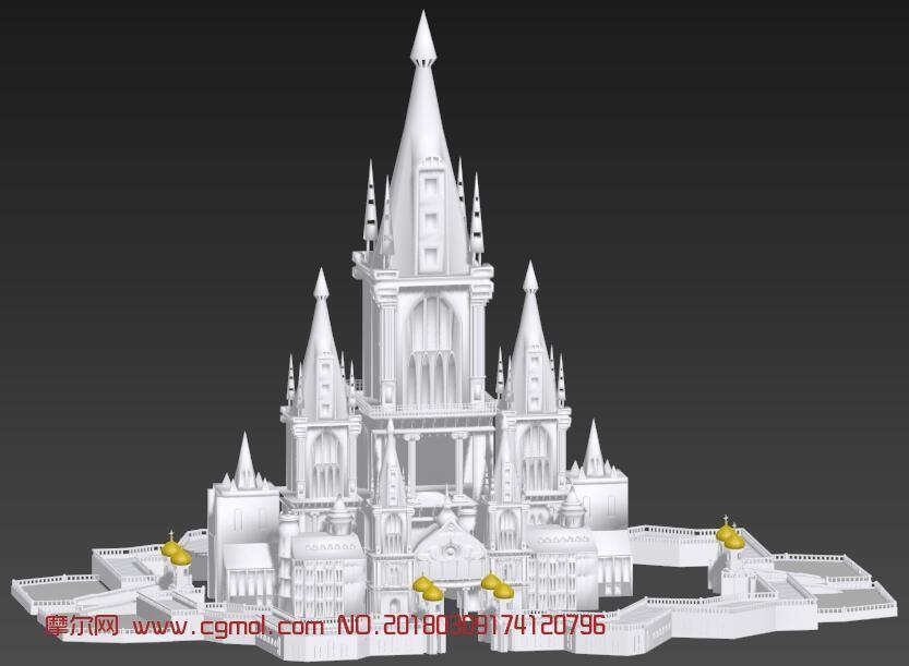 欧式城堡max模型