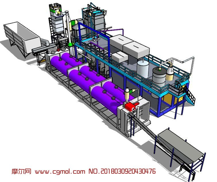 污水处理厂,化学厂su模型