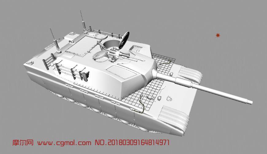 maya写实坦克