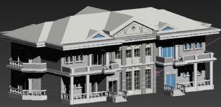 欧式双排别墅max模型