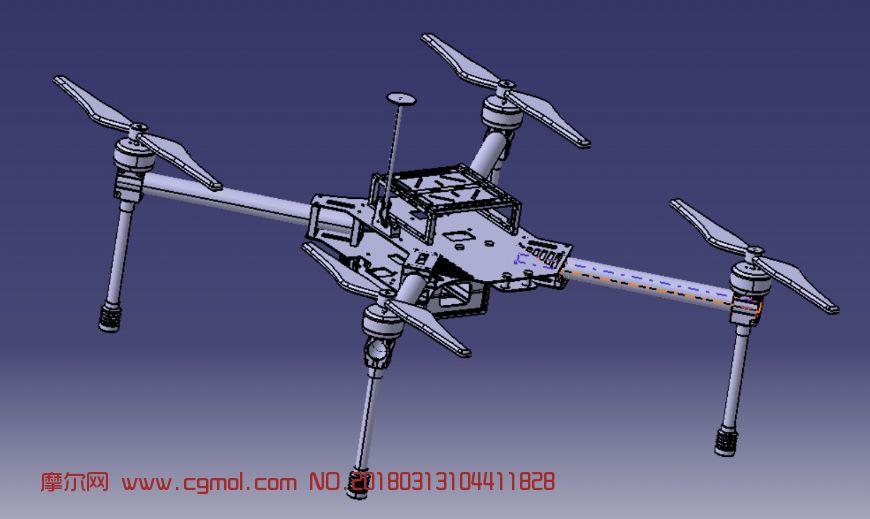 四轴飞行器,货运无人机,stp格式