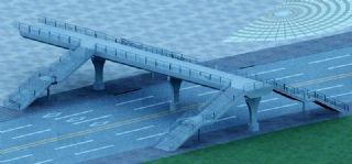 马路天桥设计max模型