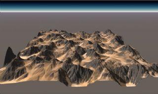 高精度真实比例山地丘陵地形场景,无贴图