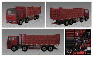 写实货车大卡车,运输车辆