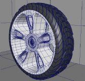 maya跑车轮胎