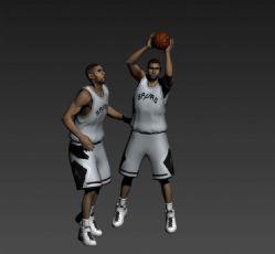 篮球运动员邓肯max模型