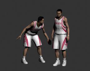 篮球远动员姚明max模型