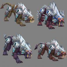 森特剑齿虎怪物,有攻击,行走等动作
