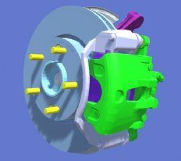 汽车制动盘,刹车盘fbx模型