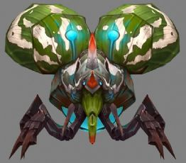 斯普纳甲虫怪,攻击,备战动画