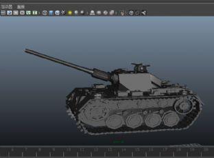 精致坦克maya素模