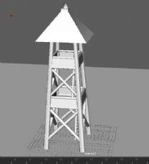 哨塔,岗哨maya模型