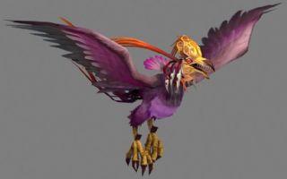 伊鲁大脚怪鸟,有攻击,飞行动画