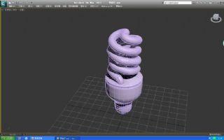 max节能灯泡模型