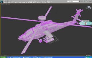 AH-64E 长弓阿帕奇直升机max模型