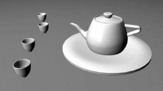 茶壶杯子maya模型