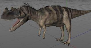 角鼻龙,恐龙C4D模型