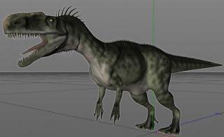 Monolophosaurus单脊龙C4D模型