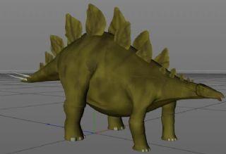 Stegosaurus绿皮肤剑龙C4D模型