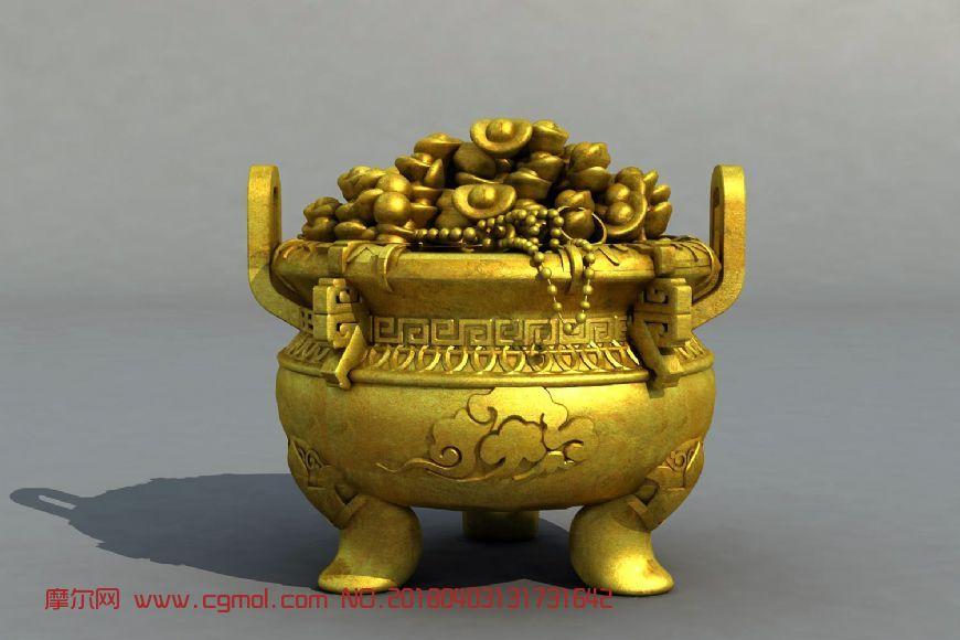 古代聚宝盆模型