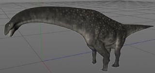Titanosaurus泰坦巨龙C4D模型