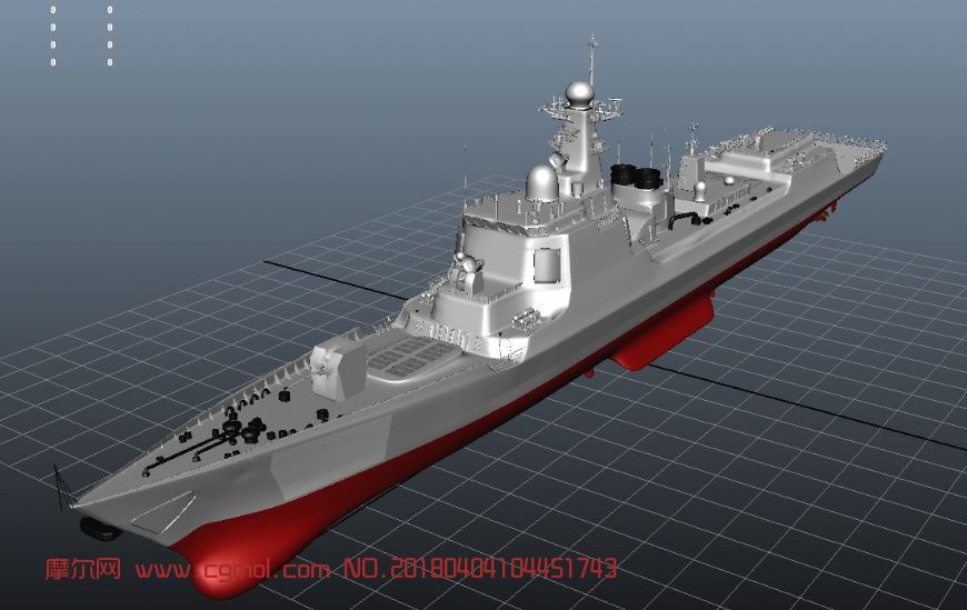 maya军舰052d导弹驱逐舰模型