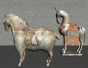 古典中式马文物陈设
