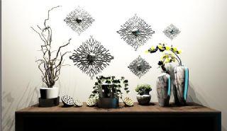 新中式摆件花艺器皿墙式陈设品组合2