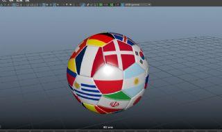 世界杯32强足球obj模型