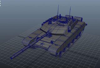 99式改装版装甲车maya模型