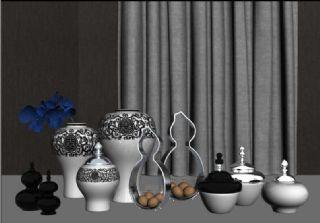 瓷器器皿,新中式陈设品组合