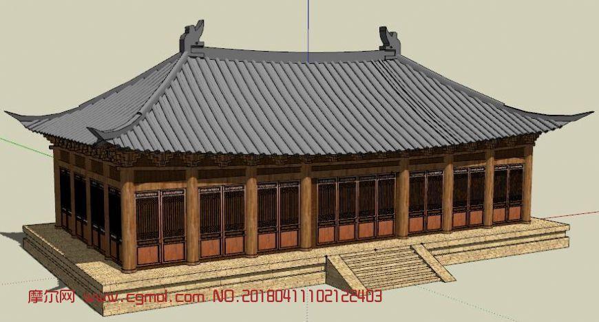 中国古建筑屋顶,庑殿顶