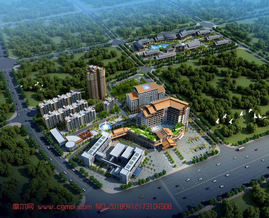 南宁开发区医院,小区项目,无贴图