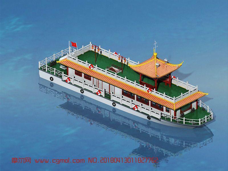 仿古中式观光游览船