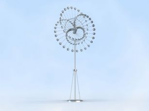 �A球雕塑�O�,�C械之美