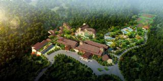 黄果树度假胜地,酒店主体部分,无绿植