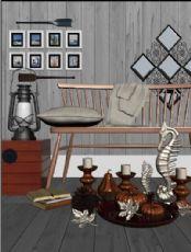 海马装饰品,烛台,相框等摆件