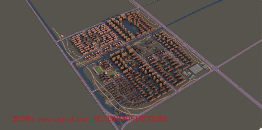 城市安置小区规划专用模型(网盘下载)