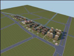 现代高层,低层小区规划设计模型(网盘下载)