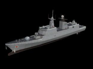中国战舰054A护卫舰max模型