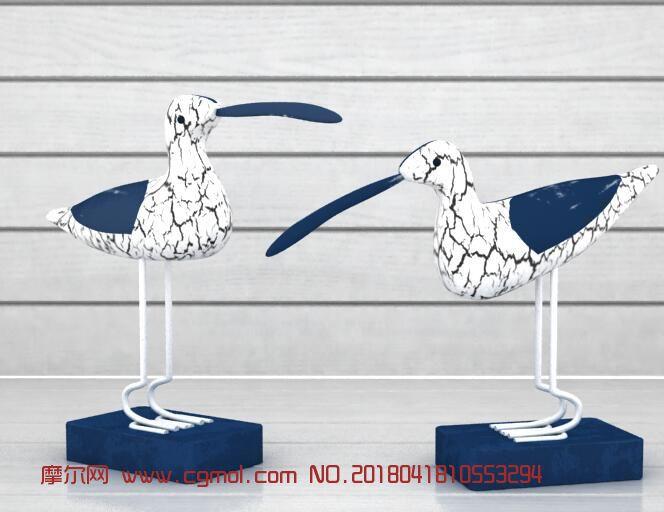 地中海海鸥雕塑