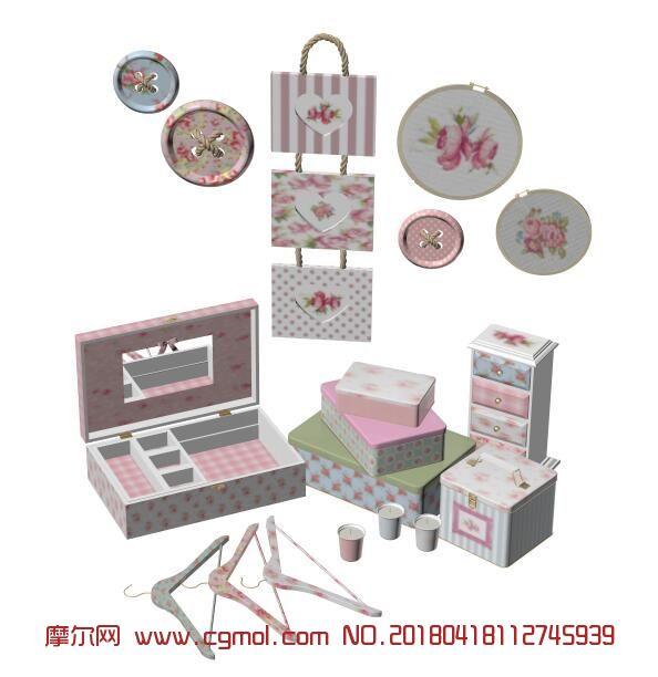 收纳盒,衣架,化妆盒,地中海田园装饰品