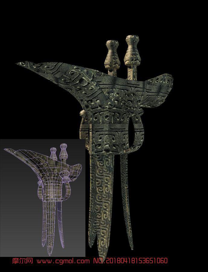 古代酒樽雕塑