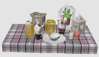 美式厨房的装饰