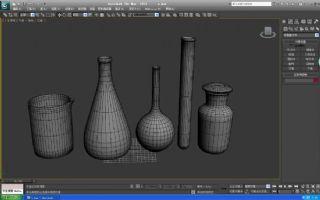 烧杯,试管,集气瓶,试剂瓶max模型